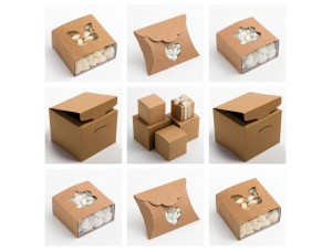 RUSTIC KRAFT Luxury DIY Wedding Favour or Christmas Gift Boxes (Box Only)