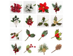 Christmas Stems and Berries - Cake Craft Decorations, Floristry