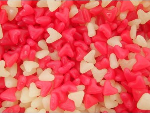 BARRATTS  Pink & White Jelly Love Hearts Beans Valentines Day Wholesale Wedding