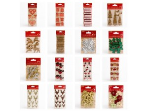 *NEW IN* HANDCRAFTED CHRISTMAS DECORATIONS FOR CARD MAKING EMBELISHMENT CRAFTS