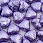 Lilac Foil Hearts