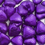 Purple Foil Hearts